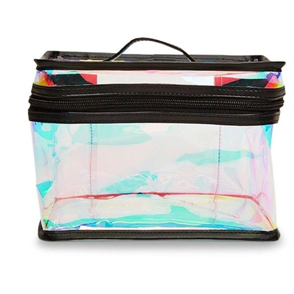 Forever21 Iridescent Makeup Bag ($9.90) ❤ liked on Polyvore featuring beauty products, beauty accessories, bags & cases, forever 21 makeup bag, makeup bag case, cosmetic purse, dop kit and travel kit