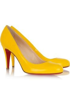 Love these yellow Loubi's...SOLD OUT in my size !