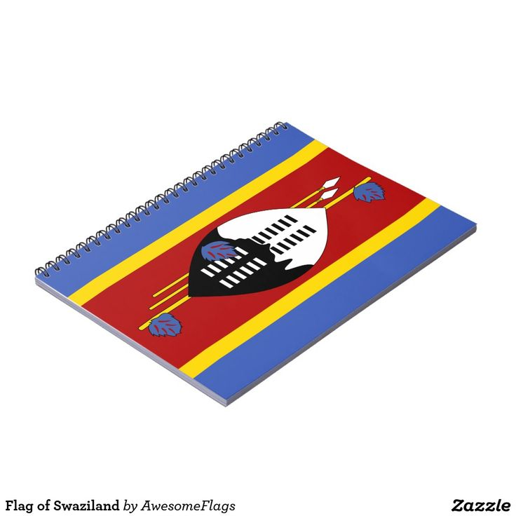 Flag of Swaziland Note Book