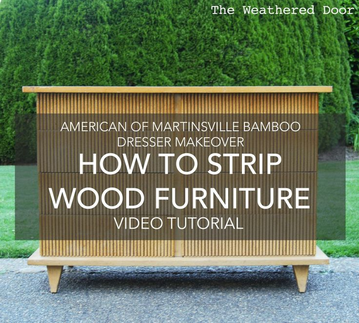 How To Strip Painted Or Stained Wood Furniture (DIY Video Tutorial