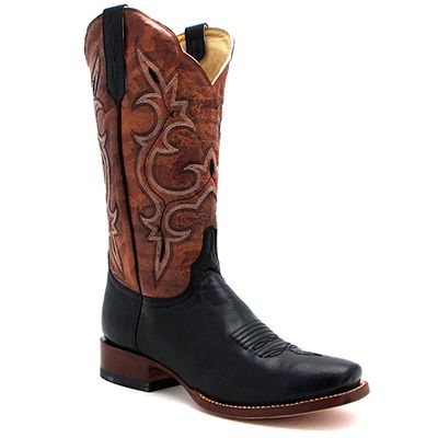 s cinch mad goat black and gold boot at maverick