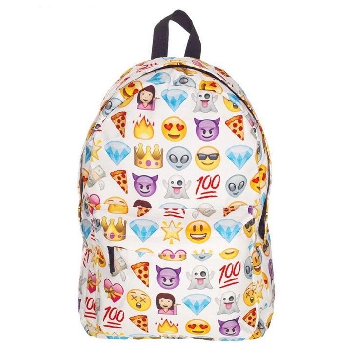 $13.59 (Buy here: https://alitems.com/g/1e8d114494ebda23ff8b16525dc3e8/?i=5&ulp=https%3A%2F%2Fwww.aliexpress.com%2Fitem%2FHottest-2015-New-Emoji-Backpack-Canvas-Emoji-Printing-Backpacks-Cute-Men-s-Backpacks-Original-Design-Women%2F32356797943.html ) Emoji Backpack Sac A Dos Femme US 2017 New Rucksack Mochilas Backpack Canvas Cute Smiley School Bag Design Women Smile Bookbag for just $13.59