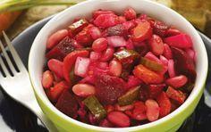 Винегрет: http://kuxnya.kralechka.com/vinegret/ Лёгкий овощной салат или закуска, или даже самостоятельное блюдо, всё равно – это очень вкусно и сытно!