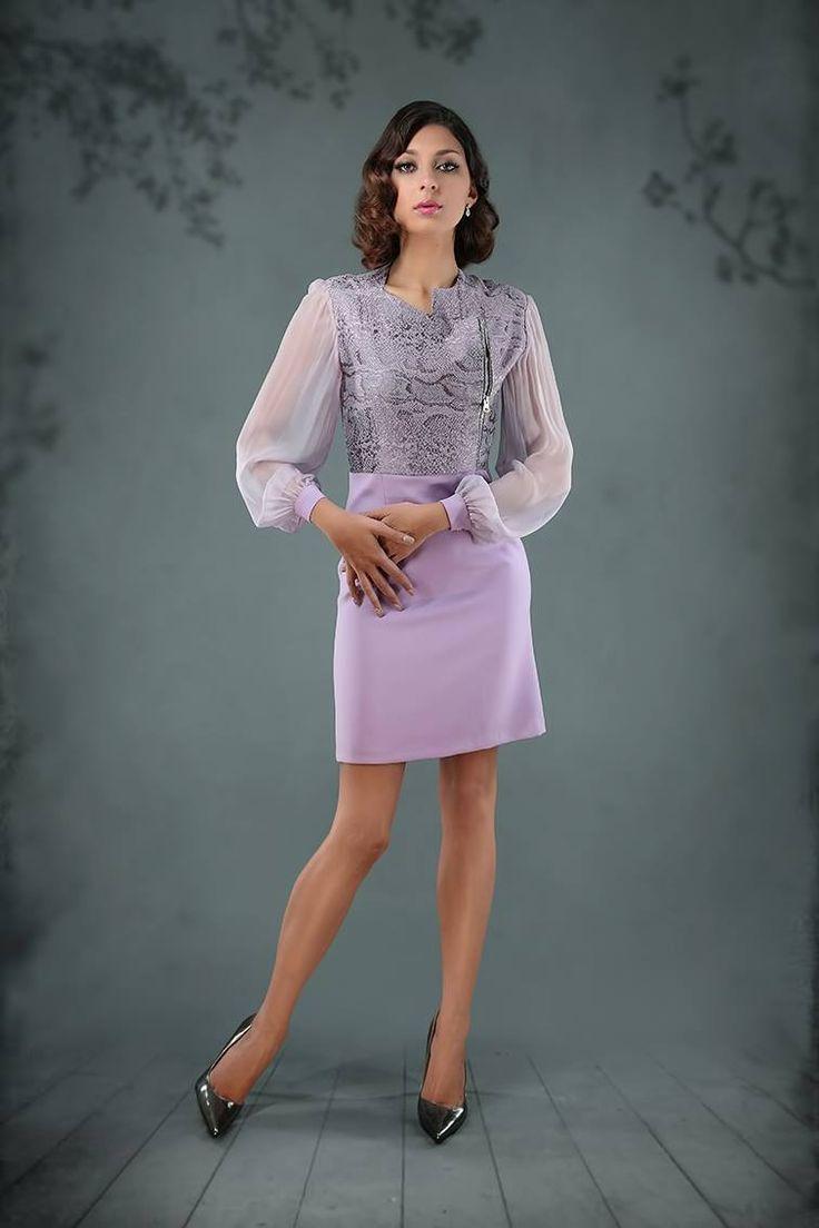 Purple Cocktail Dress by Sandra Viera for #modafirma https://modafirma.com/boutique/sandra-vieira-couture/purple-cocktail-dress-2009