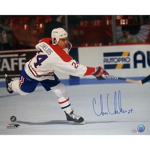 Chris Chelios Canadians Slap Shot Horizontal 16x20 Photo