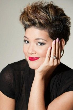 Tessanne Chin. Love this pixie.