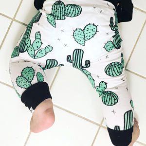Organic Hipster Baby Pants | Baby Harem Pants | Baby Harems | Joggers | Baby Girl Pants | Unisex Baby Pants | Leggings | Cactus Pants