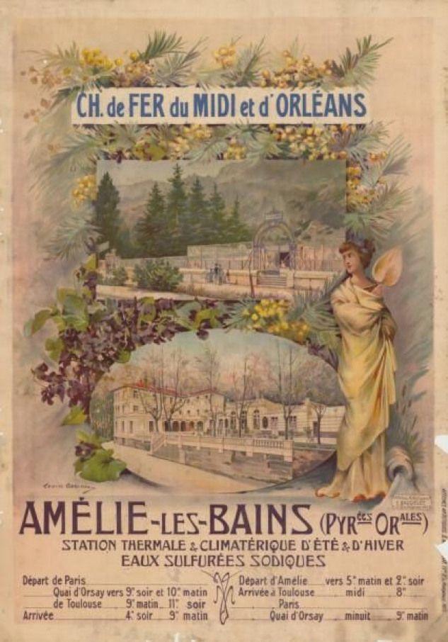 Chemins De Fer Du Midi Et D Orleans Amelie Les Bains Pyrenees