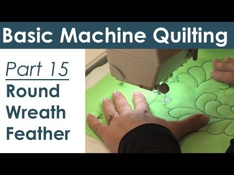 ▶ Round Wreath Feather Design for Machine Quilting - YouTube
