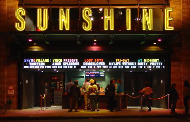 Sunshine Cinema Signage