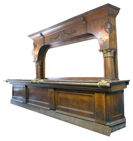 Bar idea.     http://www.woodennickelantiques.net/Antique-Bar-12204.html