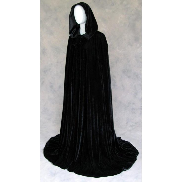 Lined Black Velvet Cloak - Volturi Vampire Cape Perhaps!