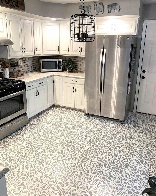 Kitchen Flooring Ideas Let S Check Out The Materials Readily Available For Your Cooking Area Floor Cover Kitchen Floor Tile Kitchen Tile Diy Kitchen Flooring