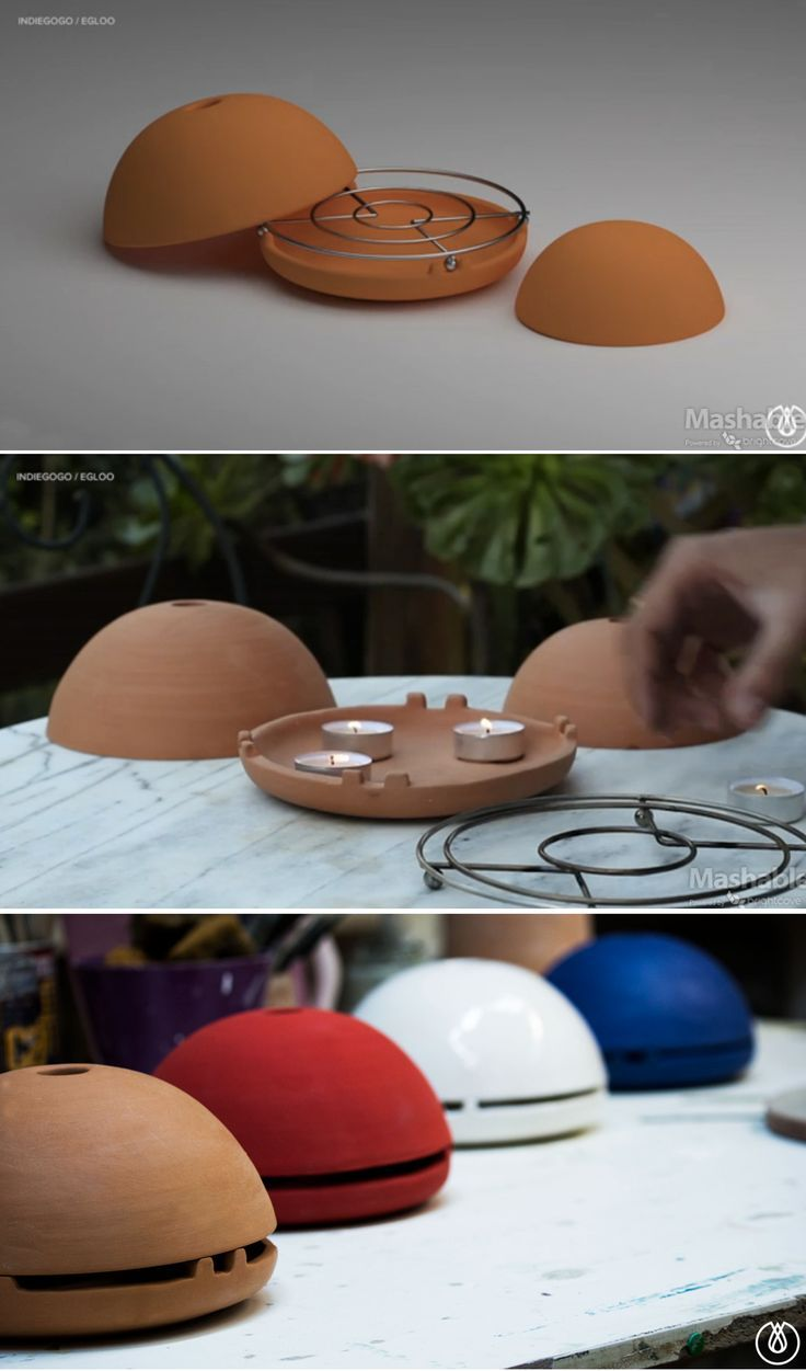 Turn a candle into a powerful heater with the egloo.: