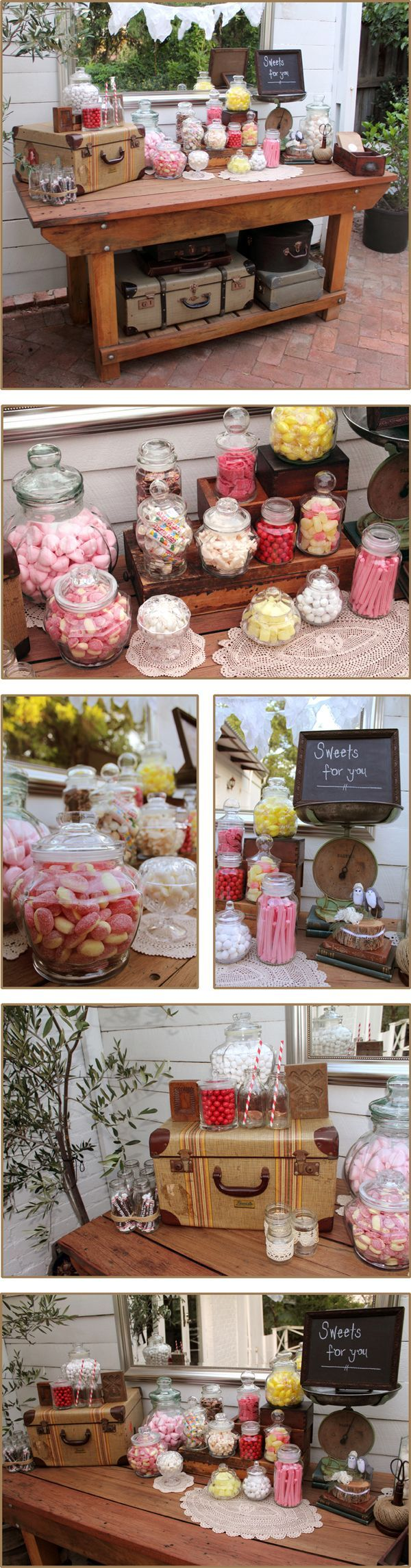 Sweet amp sparkly wedding candy buffet pictures to pin on pinterest - This Is The Perfect Inspiration For A Homemade Candy Buffet We Are Loving All Of