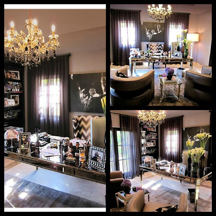 interiors i love khloe kardashian s office the office home and chairs. Black Bedroom Furniture Sets. Home Design Ideas