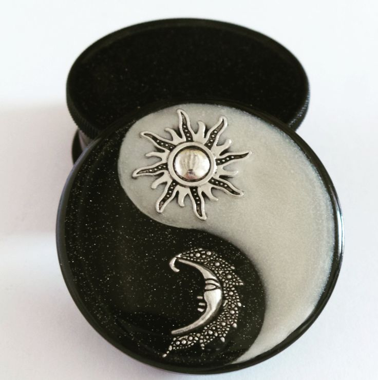 Sun & Moon Yin Yang Three part Magnetic Herb Weed Tobacco Grinder by Planetbear on Etsy