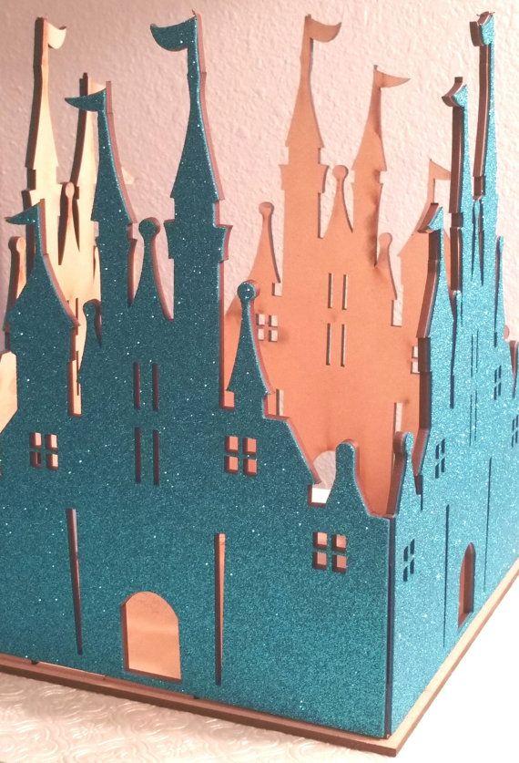 Princess wood Castle 4 colors Centerpiece fill by ClassyFabCharm