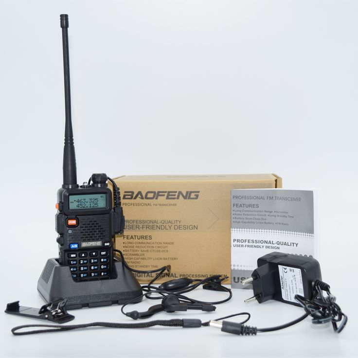 Baofeng UV-5R uv5r Portabel Walkie Talkie Dua Arah Radios128CH Dual Band VHF/UHF 136-174/400-520 MHz Transceiver Ham Radio
