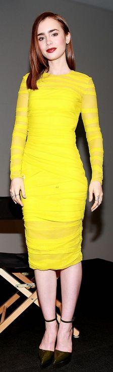 Yellow long sleeve dress