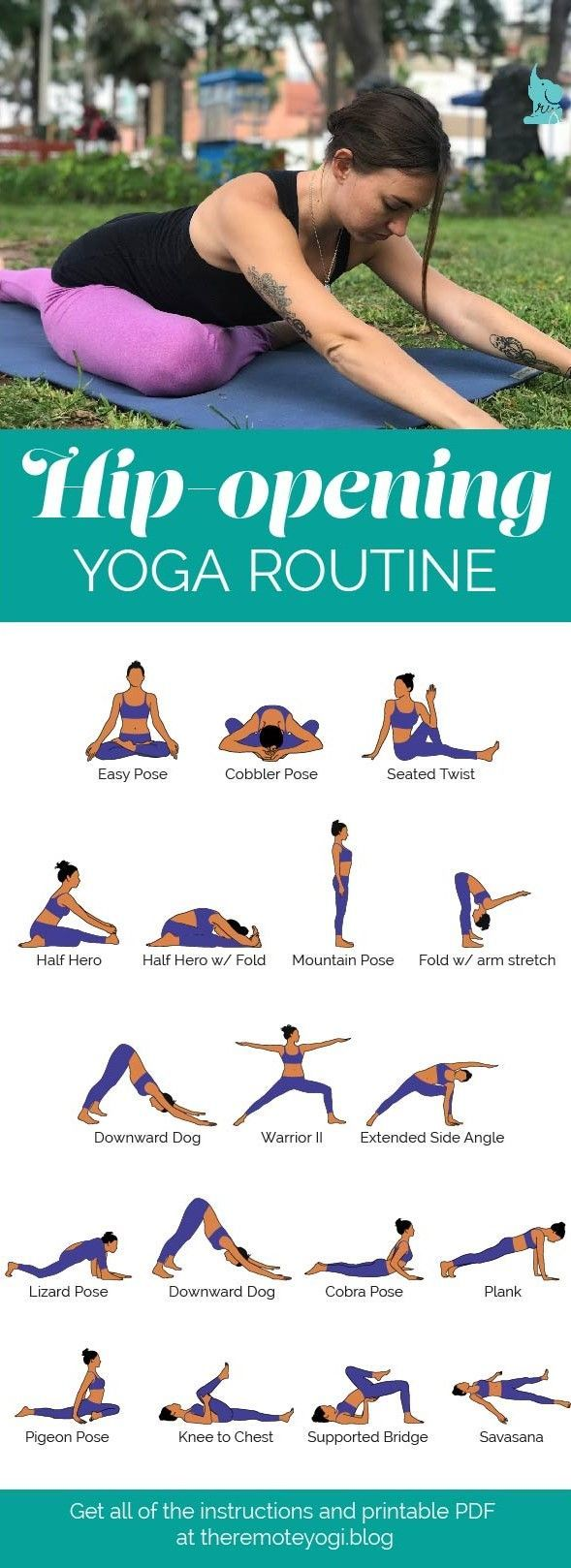 Hüftöffnungs Yoga Flow Sequence PDF  #huftoffnungs #sequence – SPORT WELT
