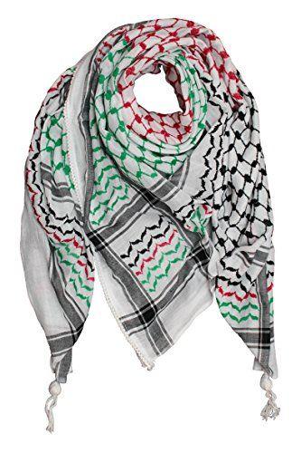 Hirbawi Kufiya Original Men's Arab Scarf One Size Black, Red and Green on White Hirbawi Kufiya Original http://www.amazon.com/dp/B00MNVE0Y6/ref=cm_sw_r_pi_dp_zLuaub12ZEQ08