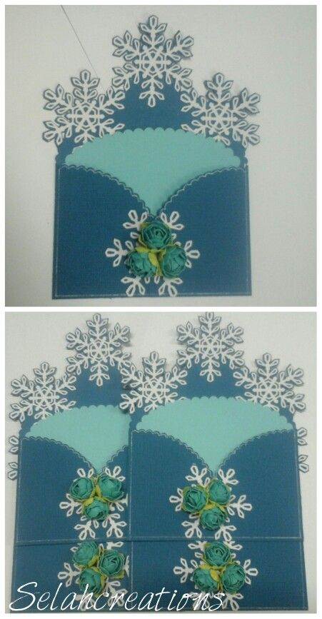 Frozen envelope cards