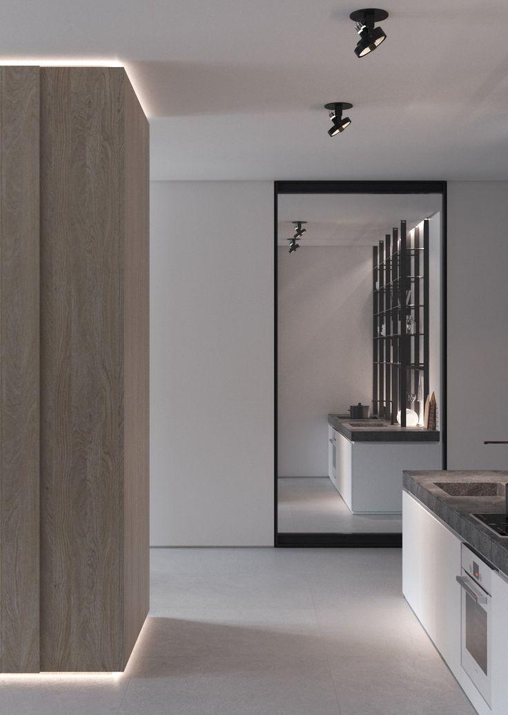 #kitchen #minimal #glasspartitions