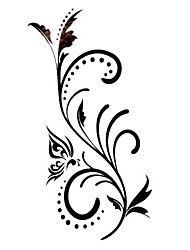 5 stuks bloem waterproof tijdelijke tatoeage (12,5 cm * 6,5 cm)