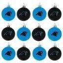 Carolina Panthers NFL 12 Pack Plastic Ball Ornament Set