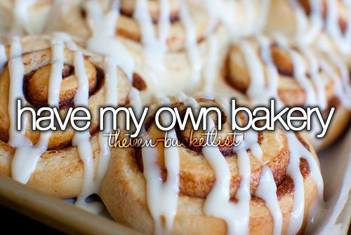 I really want to open a bakery/coffee shop someday