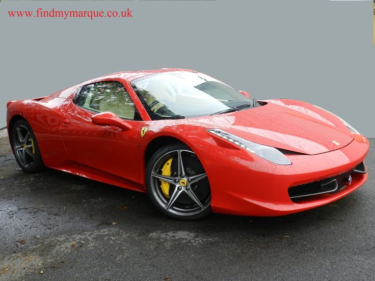 Ferrari 458 Spider in Rosso Corsa with Crema Leather