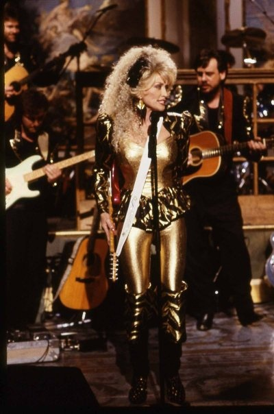 Dolly Effing Parton in a Gold Effing Jumpsuit!!!!!