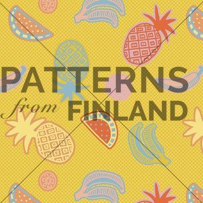 Hedelmäkori by Kahandi Design   #patternsfromagency #patternsfromfinland #pattern #patterndesign #surfacedesign #printdesign #kahandidesign