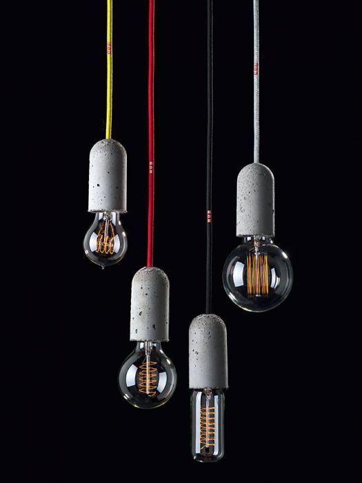NUD Lampe mit Beton Fassung
