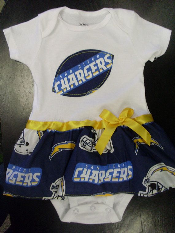 San Go Chargers Inspired Baby Dress By Sportys On Etsy New Products Football