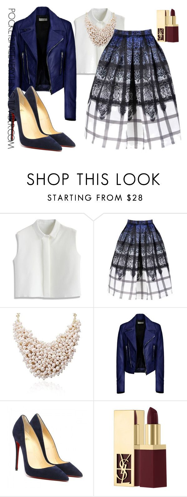 """Holiday Chic(Part 3)"" by adoremycurves ❤ liked on Polyvore featuring Chicwish, Balenciaga and Yves Saint Laurent"