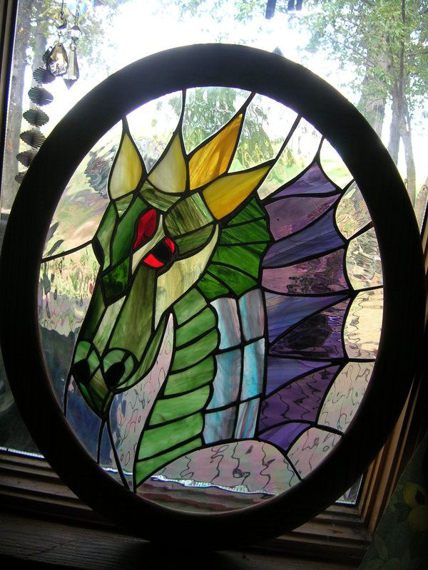 Dragon Stained Glass Patterns | Stained Glass Dragon Panel by LCheek on deviantART