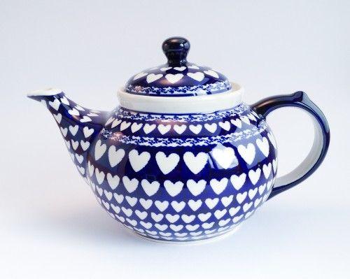 Teapot 1.25l #PotteryCorner #Boleslawiec #Polishpottery #teapot