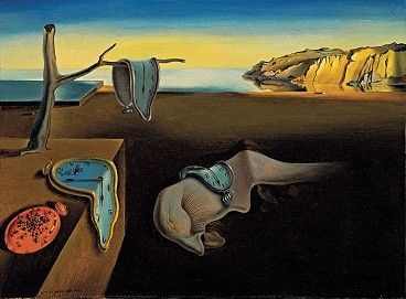 """""""Persistence of Memory"""" by surrealist painter Salvador Dali. ••••• The soft watches are an unconscious symbol of the relativity of space and time. Dali was incorporating an understanding of the world introduced by Albert Einstein's Special Theory of Relativity."""