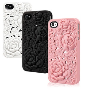 3D Blossom Rose Flower Case Cover for iPhone 5/5s/4/4s - iPhone 4S