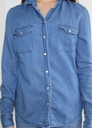 Buy my item on #vinted http://www.vinted.com/womens-clothing/other-tops/20538781-blue-button-up-forever-21-shirt