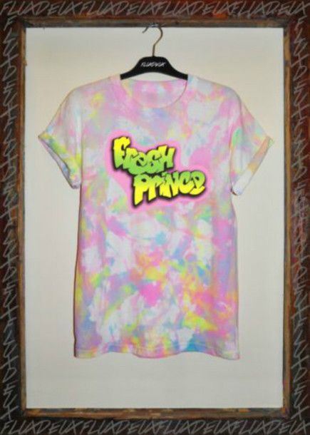 t-shirt tie dye fresh prince fresh prince of bel air will smith 90s style t shirt tie dye shirt