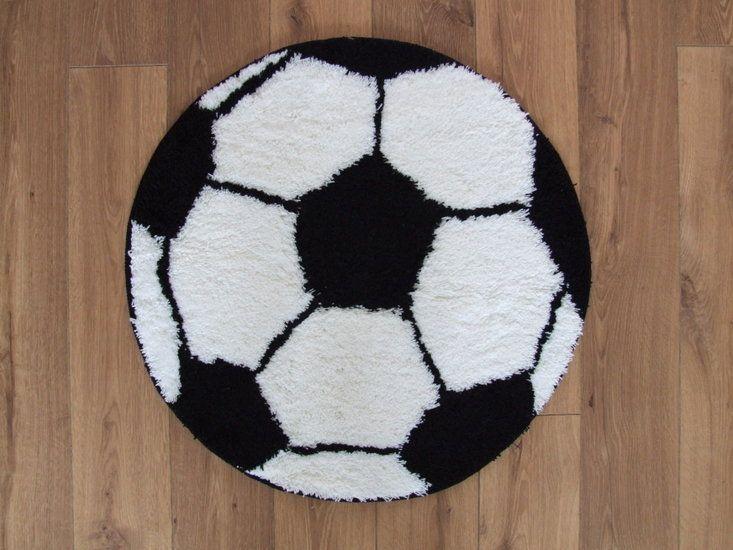 Voetbal vloerkleed rond