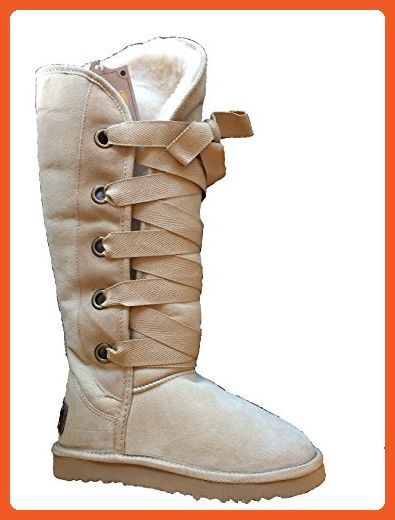 KOS Women's Kate Tall Sand Sheepskin Boot 5 M US - Boots for women (*Amazon Partner-Link)