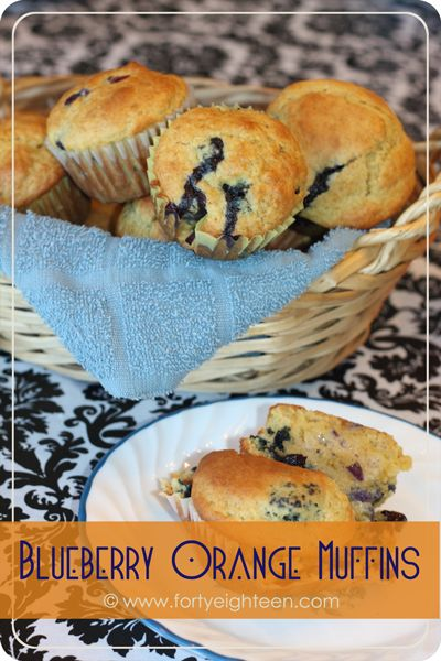 These Blueberry Orange #muffins are like eating a bite of sunshine. Apparently #blueberries and #orange are a heavenly combination.
