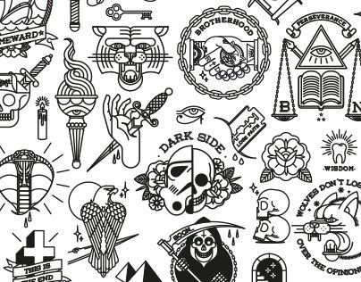 Here are some of my work recently uploaded to instagram. This is a collection of tattoo flash based on traditional style and is part of my personal project. ___ Aqui están algunos de mis trabajos, subidos recientemente en instagram. Se trata de una colecc…