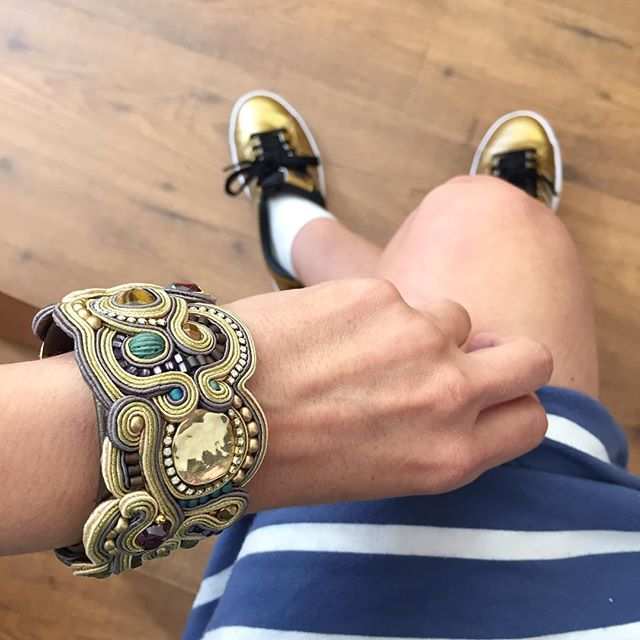 Midas our golden statement cuff...  #DoriCsengeri #gold #cuff #statement #bracelet
