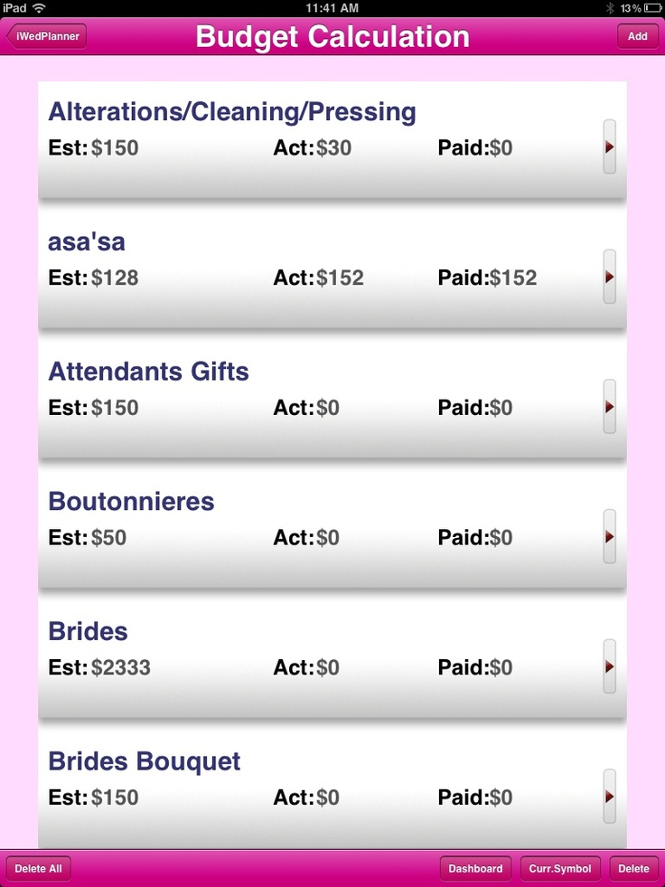 Free IPad Wedding App To Help Schedule A Long Or Short Engagement One Of The