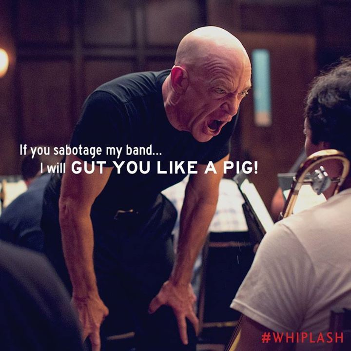 Whiplash (2014). Very intense  love JK Simmons, so deserved best supporting actor. (BBC movie awards)